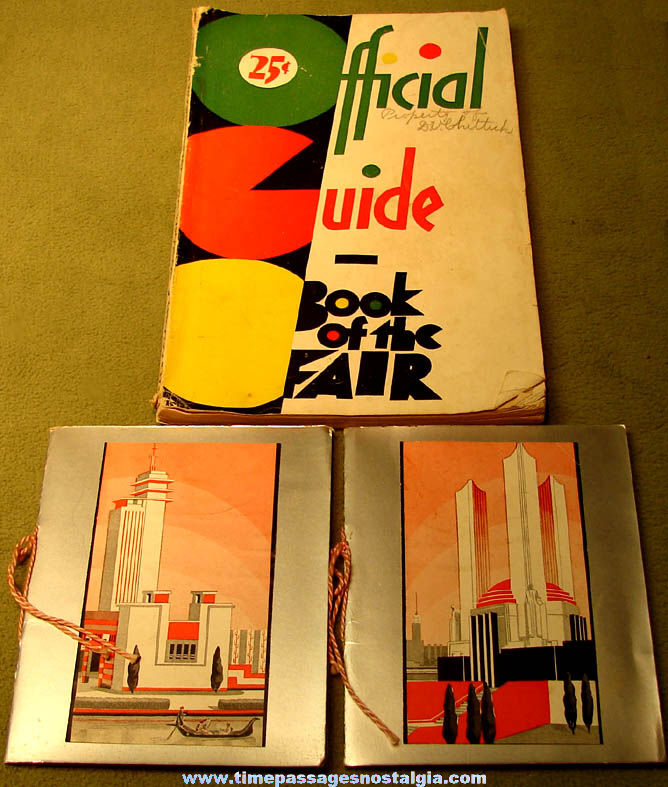 (3) 1933 - 1934 Century of Progress Chicago World's Fair Advertising Souvenir Items