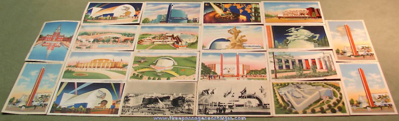 (20) Colorful 1939 – 1940 New York World's Fair Advertising Souvenir Post Cards