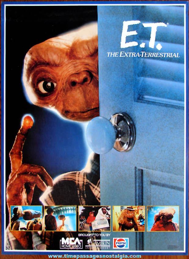 Unused ©1982 ET The Extra Terrestrial Pepsi Advertising Movie Poster