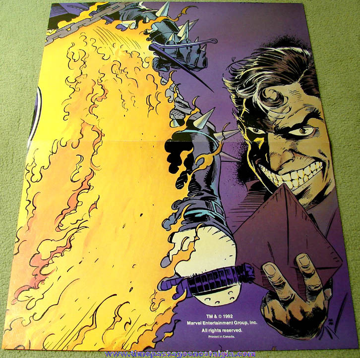 (2) Different Small Unused Marvel Comic Book Character Posters