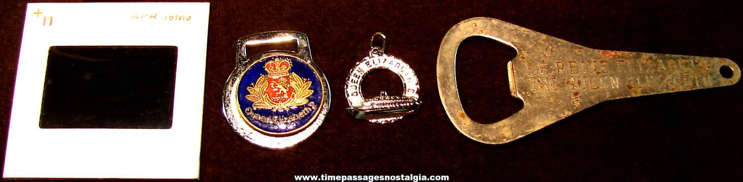 (22) Old RMS Queen Elizabeth & Queen Elizabeth II Ship Advertising and Souvenir Items