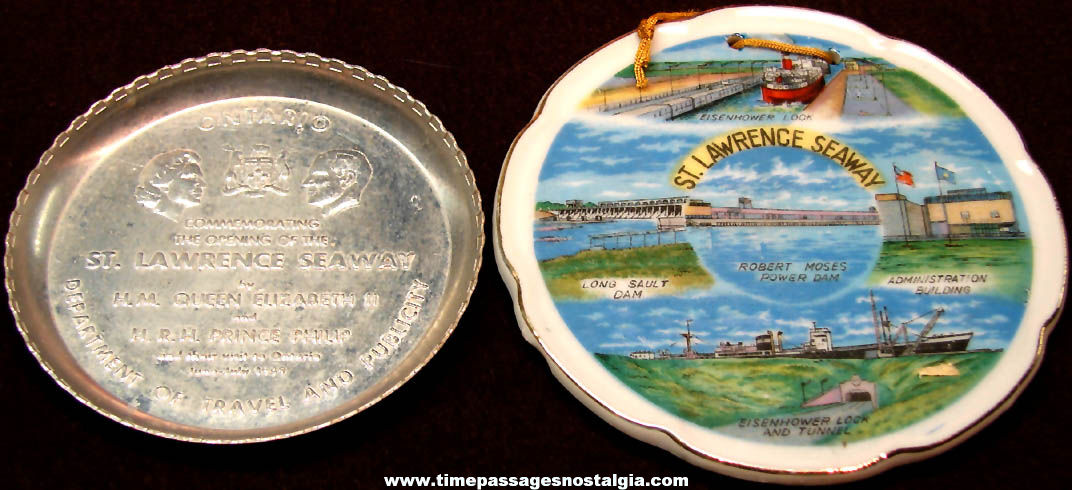 (2) Different Old St. Lawrence Seaway Advertising Souvenir Items