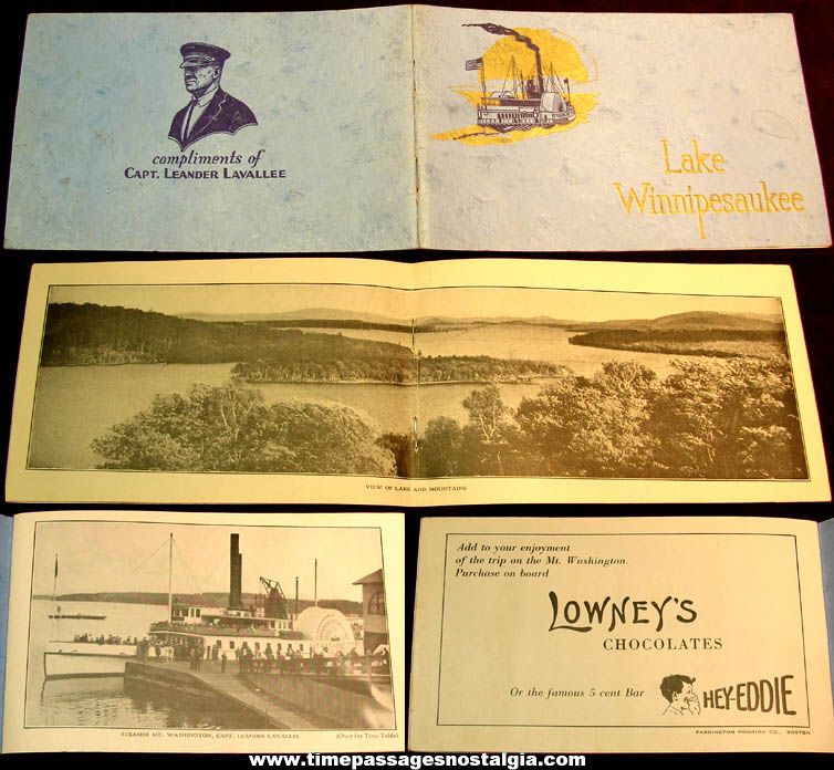 1928 Lake Winnipesaukee New Hampshire Advertising Premium Souvenir Booklet