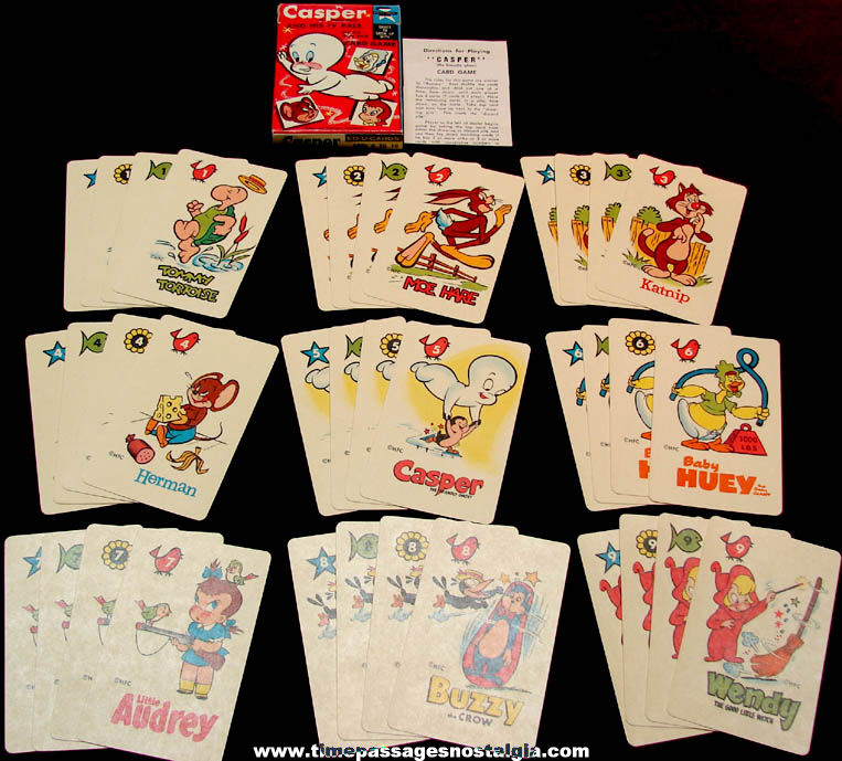 Old Unused Casper The Friendly Ghost And His TV Pals ED-U-Cards Card Game