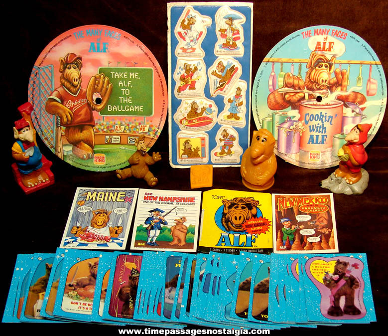 (70) ©1987 – 1990 Alf Alien Character Television Show Advertising and Premium Items