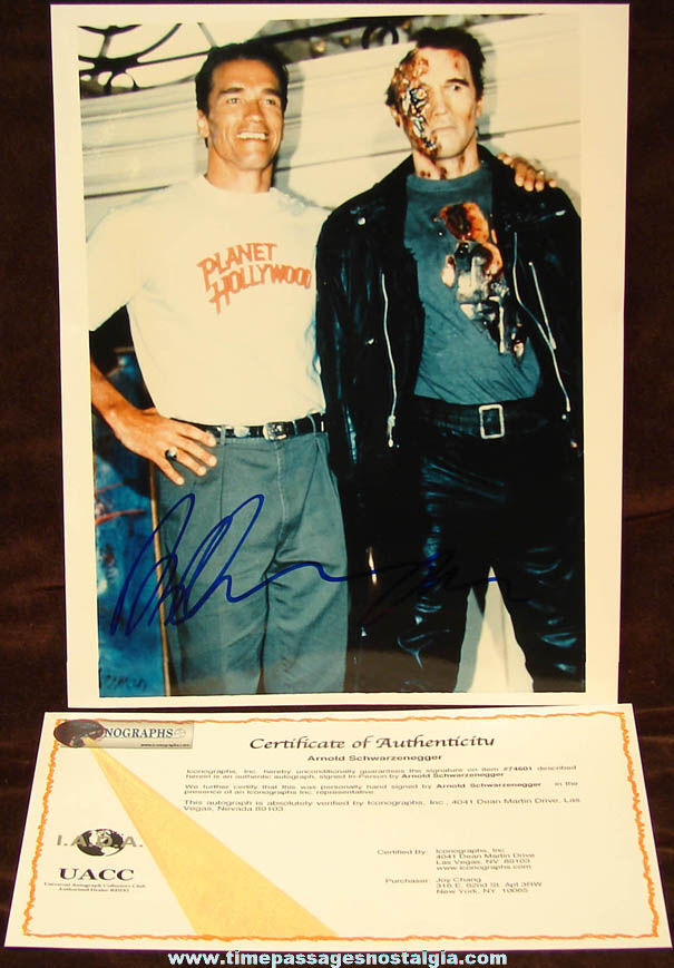 2006 Arnold Schwarzenegger Autographed Publicity Color Photograph with Certificate of Authenticity