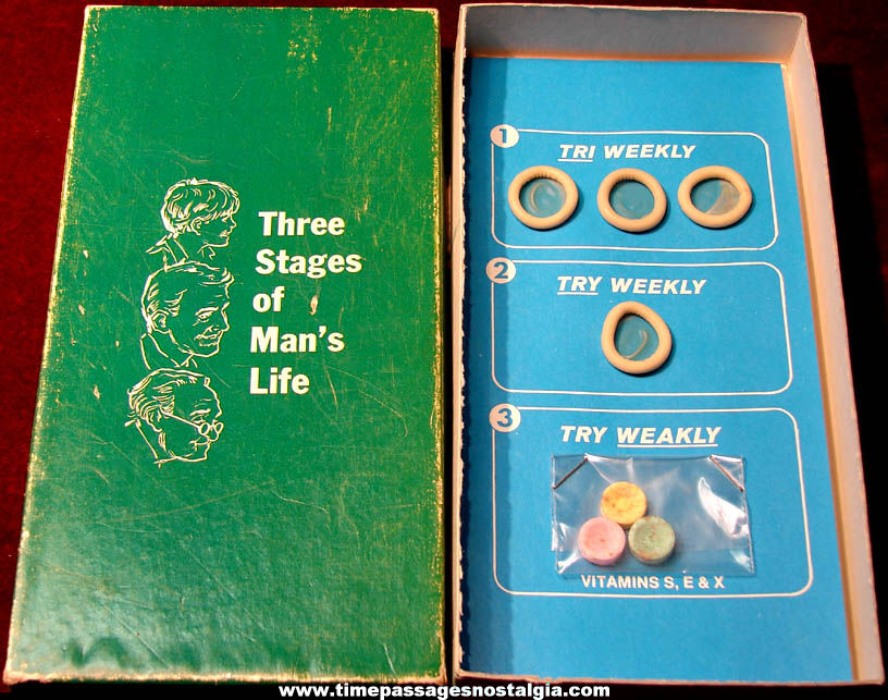 Old Three Stages Of A Man's Life Boxed Gift Novelty Sex Joke or Prank