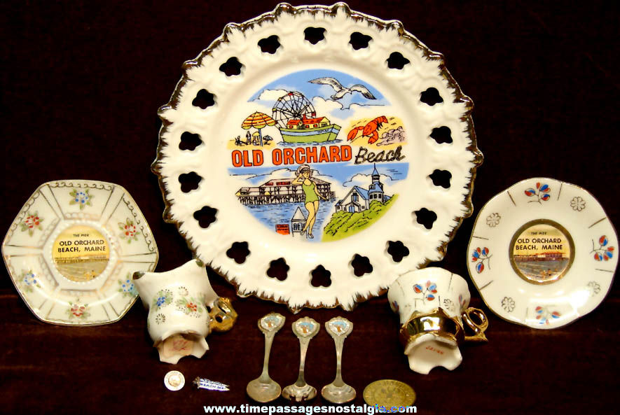 (11) Small Old Orchard Beach Maine Advertising Souvenir Items