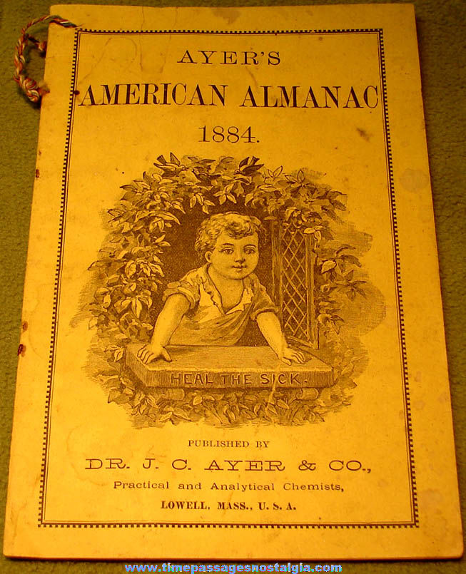 1884 Doctor J. C.  Ayer & Company Advertising American Almanac