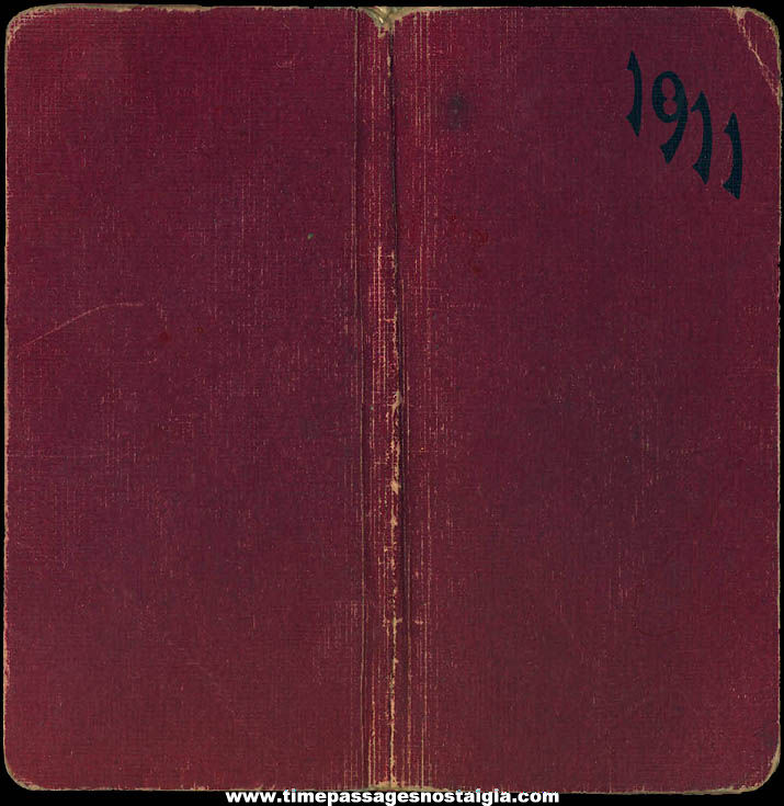 1911 Lowell Massachusetts Young Lady's E. E. Miles Pocket Diary Book