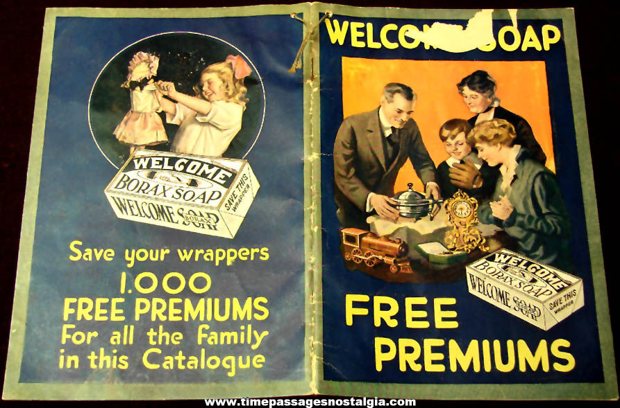 1918 Lever Brothers Company Welcome Borax Soap Advertising Premium Catalog