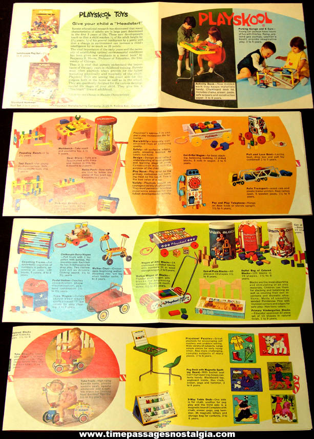 Small Colorful Old Playskool Manufacturing Company Toy Advertising Catalog Brochure