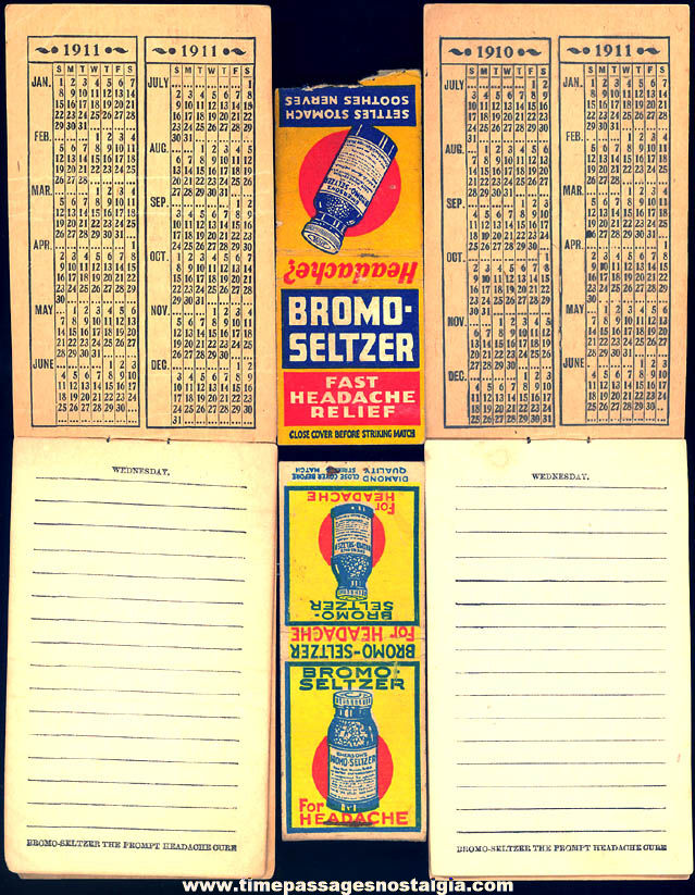 (4) Different Small Old Emerson's Bromo Seltzer Advertising Premium Items