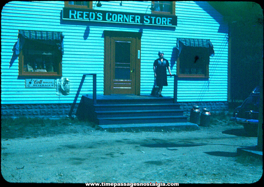 Old Reed's Corner Store East Wakefield New Hampshire Color Photograph Slide