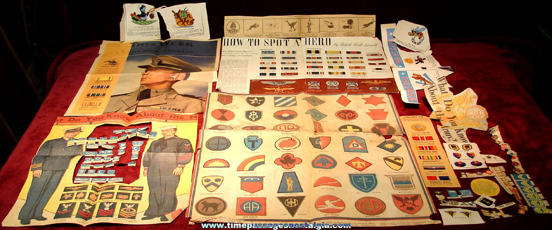 Large Lot of United States Military Insignia Related Paper Items