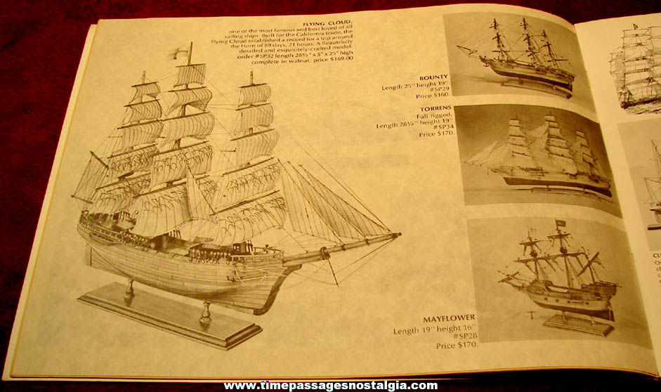 Colorful Old Nautical Model Ship and More Gift Catalog