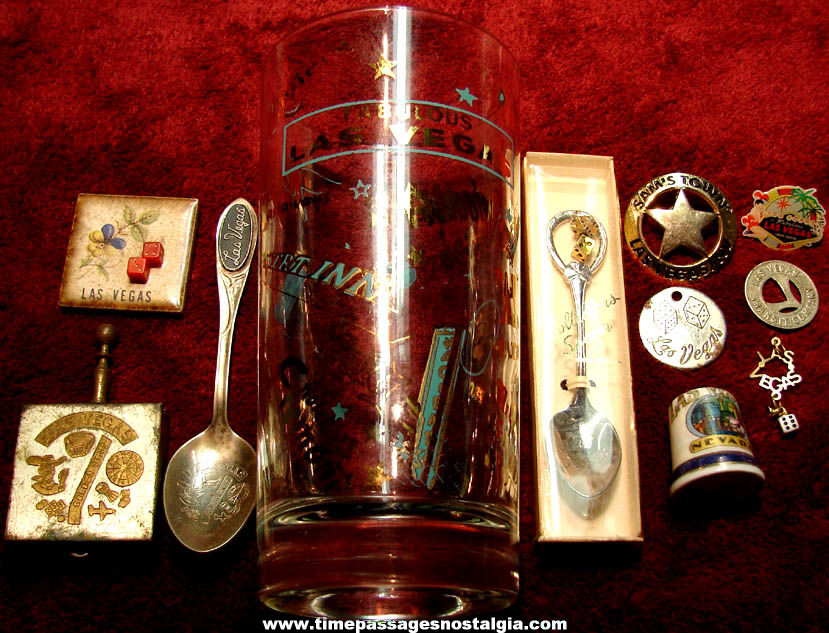 (11) Different Small Old Las Vegas Nevada and Casino Advertising Souvenir Items