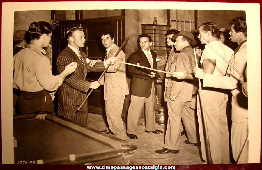 Old Unknown Tony Curtis Pool Hall Fight Scene Movie Still Photograph