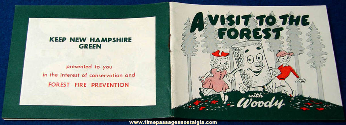 Old Unused A Visit To The Forest With Woody Fire Prevention Advertising Booklet