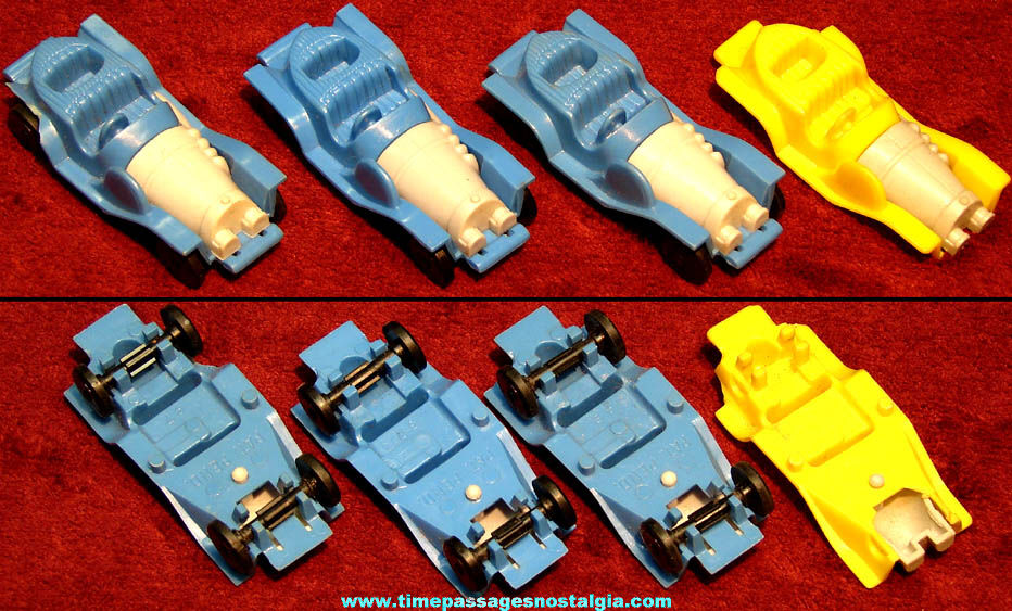 (4) 1960s Chitty Chitty Bang Bang Post Honeycomb Cereal Prize Toy Cars