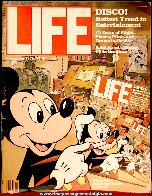November 1978 Walt Disney Mickey Mouse Cover Life Magazine