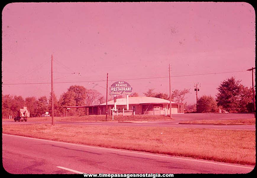 Old Ray Kearns Restaurant & Cocktail Lounge Ektachrome Color Photograph Slide