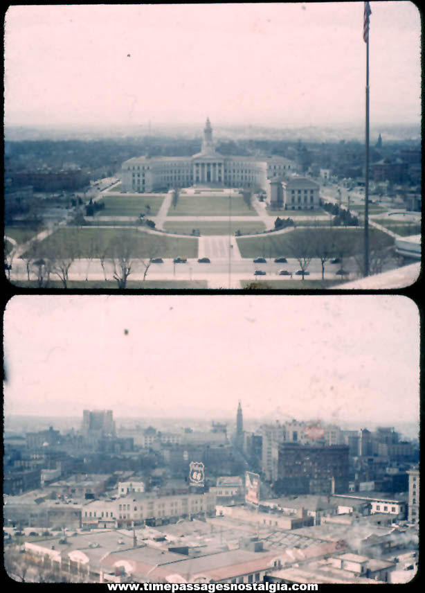 (2) Different April 4th 1944 Denver Colorado Kodachrome Photograph Slides