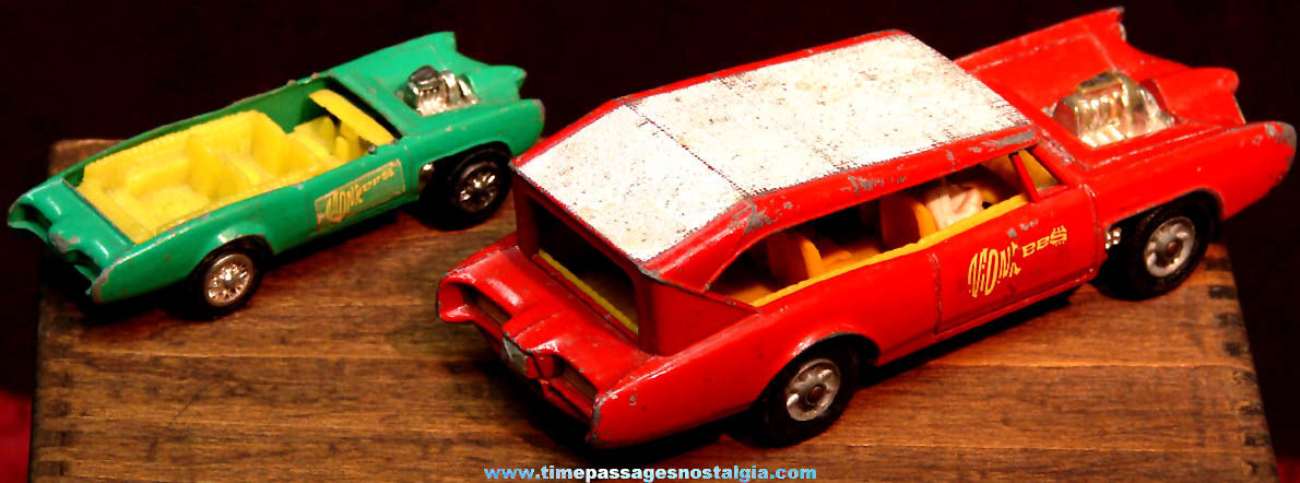 Old Corgi & Remco Monkees Television Show Monkeemobile Miniature Diecast Toy Cars
