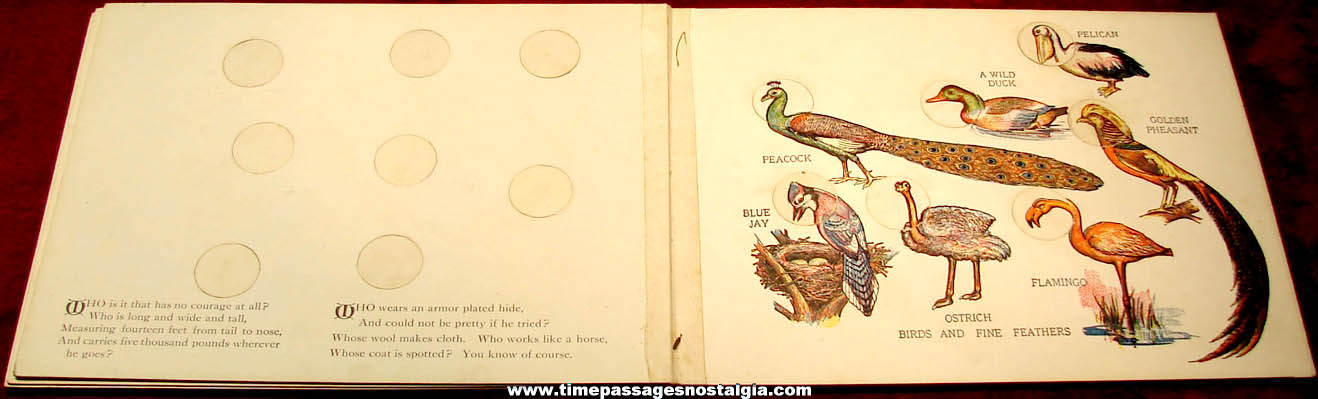 ©1914 Children's Funland Nature Study Book with Animal Heads