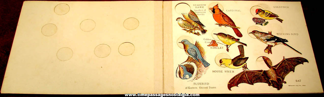 ©1919 Children's Birdland Nature Study Book with Bird Heads