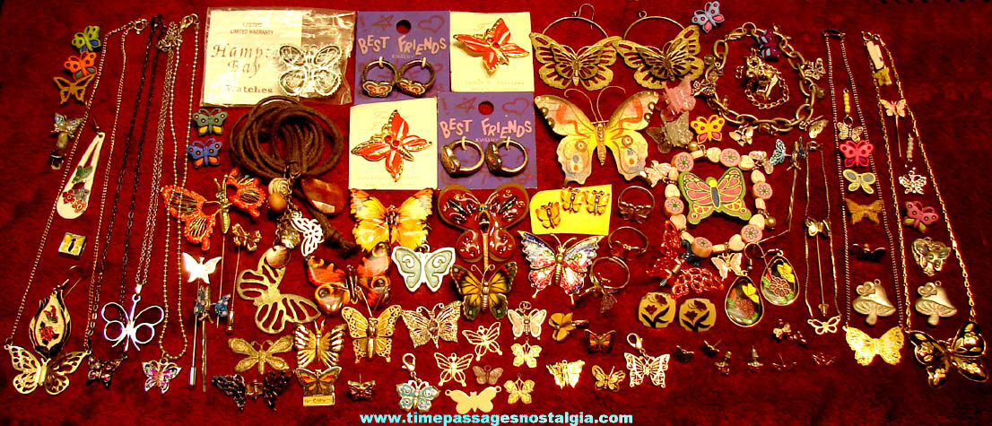 (100) Small Colorful Butterfly Insect Jewelry Items