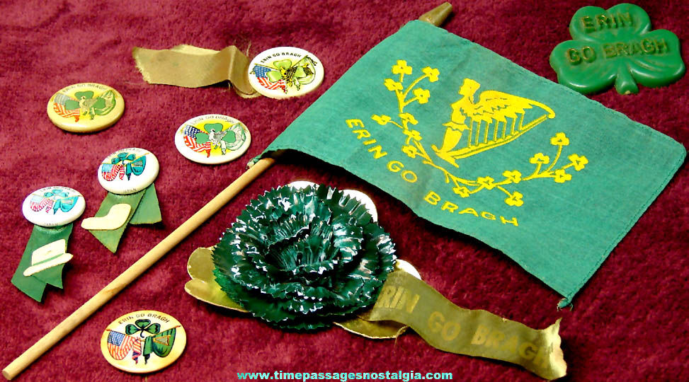 (9) Small Old Erin Go Bragh Ireland or Irish Items