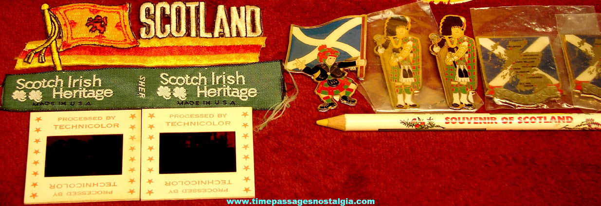 (25) Small Colorful Scottish or Scotland Related Advertising and Souvenir Items
