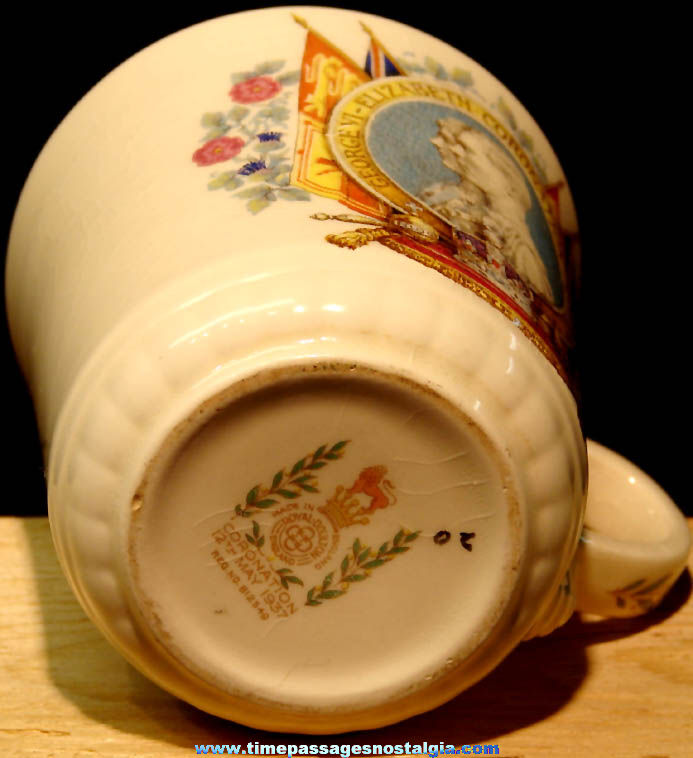 May 12th 1937 King George VI – Queen Elizabeth British Coronation Cup or Mug