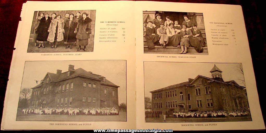 1925 Picture Survey of New Britain Connecticut Public School System Booklet