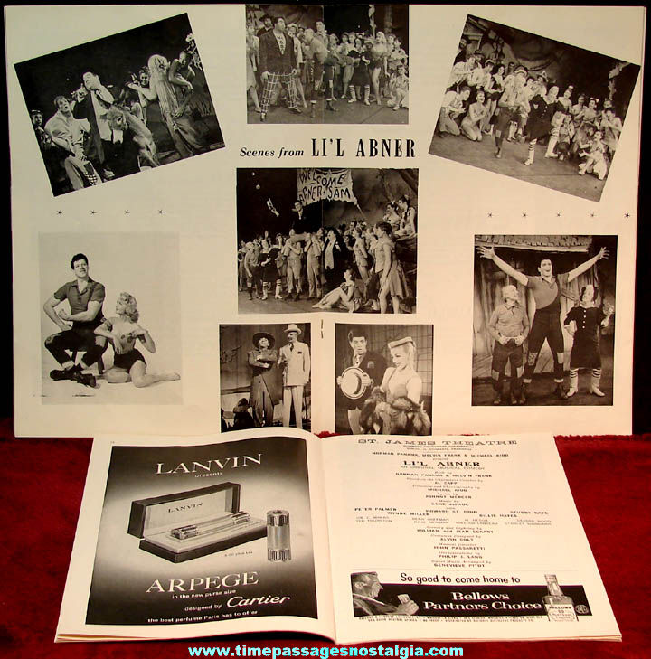 (2) Different 1950s Li'l Abner Musical Comedy Advertising Souvenir Programs