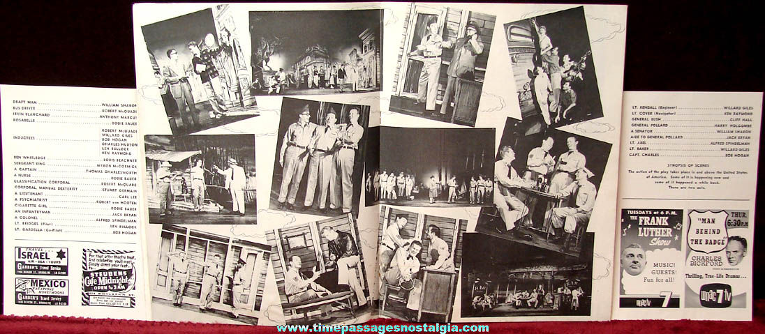(3) 1958 No Time For Sergeants Musical Comedy Advertising & Souvenir Theatre Programs