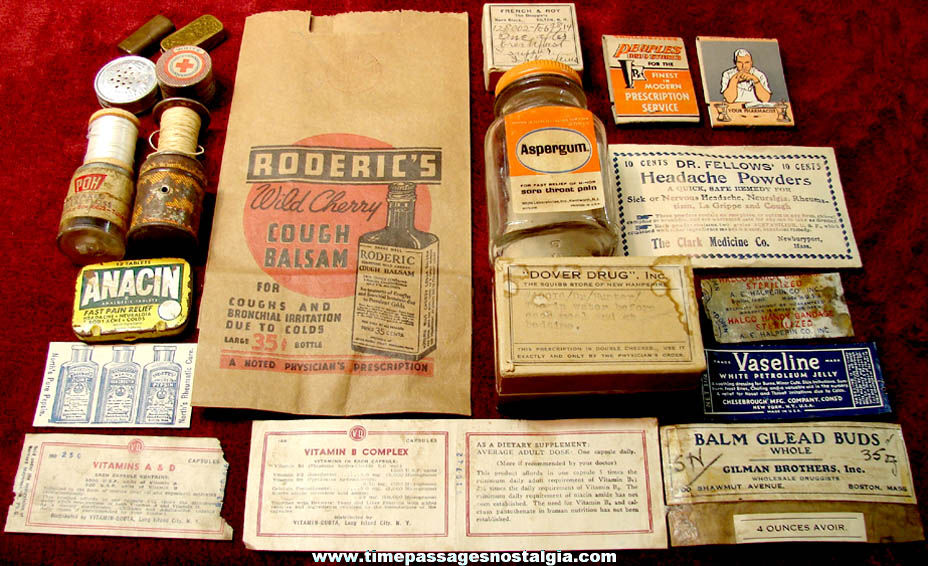 (20) Different Small Old Medical or Medicine Advertising Related Items