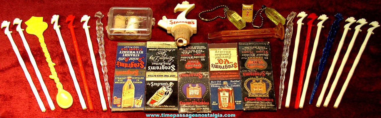 (26) Small Old Seagrams Whiskey & Gin Novelty Advertising and Premium Items