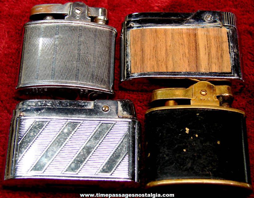 (4) Different Old Metal Cigarette Lighters