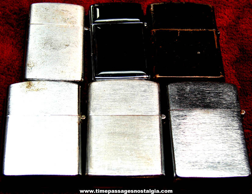 (6) Different Old Metal Cigarette Lighters