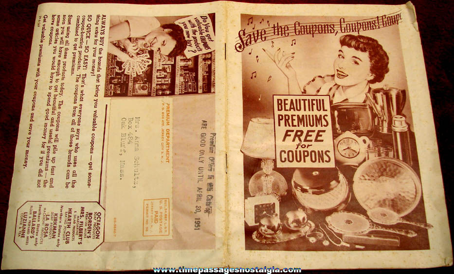 ©1950 Grocery Coupon Mail Premium Catalog with (25) Premium Coupons