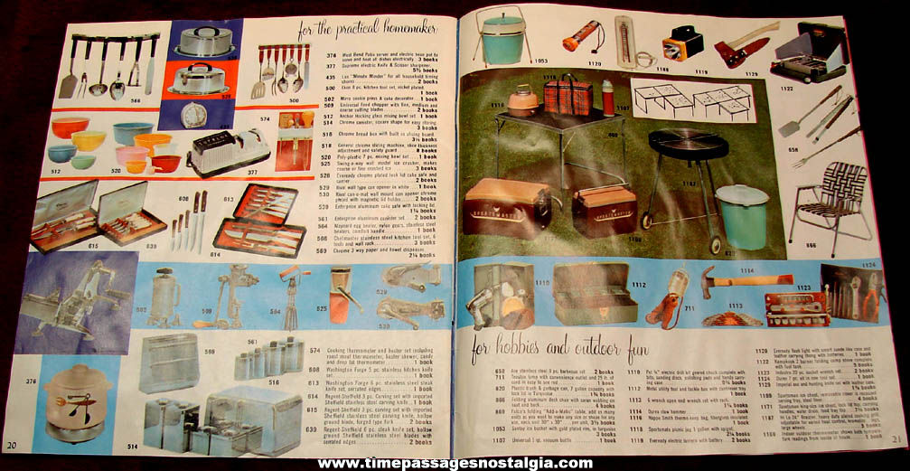 ©1958 United Stamps Mail or Redemption Center Premium Catalog