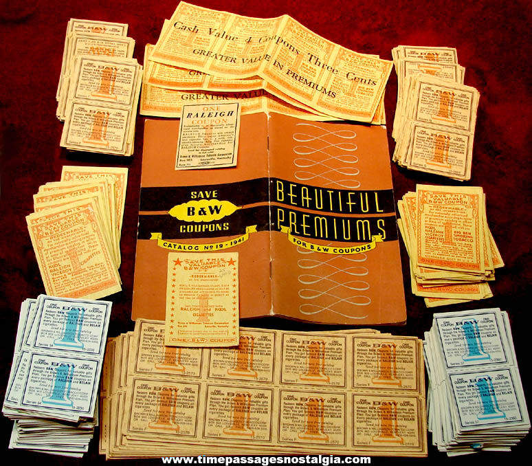 ©1941 Brown & Williamson Mail or Redemption Center Premium Catalog & (985) Coupons