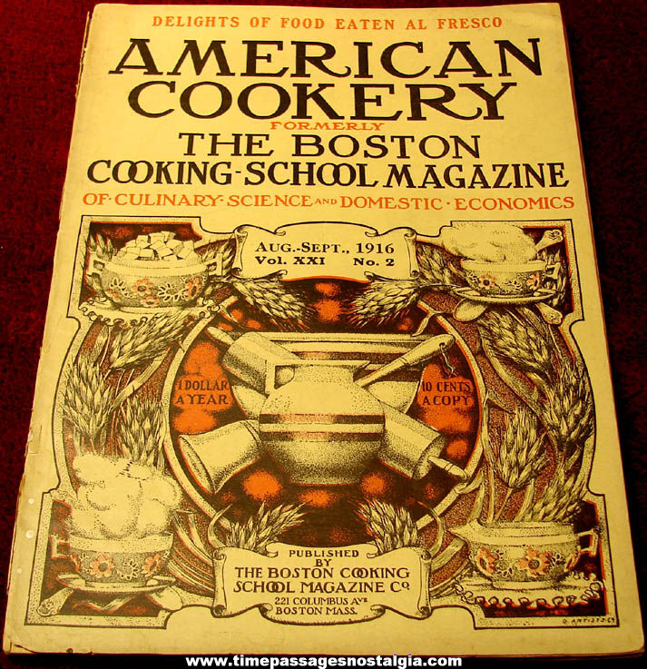 August – September 1916 American Cookery The Boston Cooking School Magazine