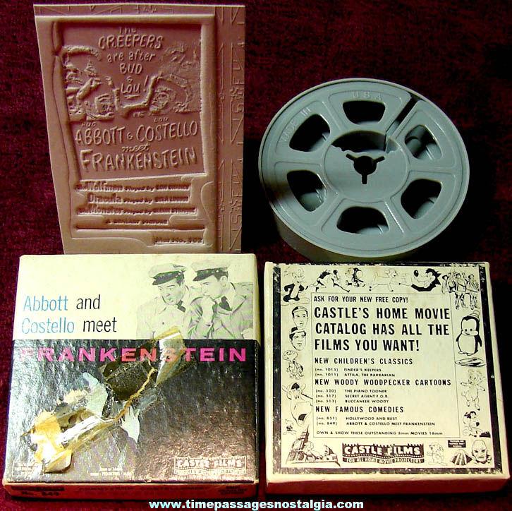 ©1948 Abbott and Costello Meet Frankenstein Monster Horror Movie Ad Mat Mold & Film Box