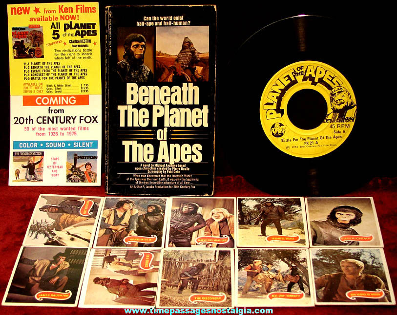 (13) Different Small Old Planet of The Apes Movie Character Items
