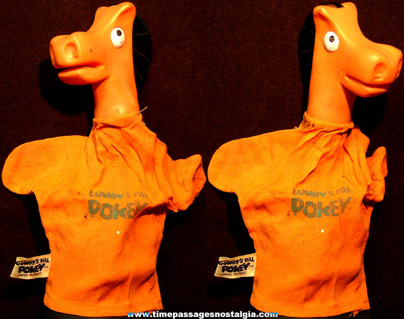 ©1965 Gumby's Pal Pokey Claymation Television Character Toy Hand Puppet