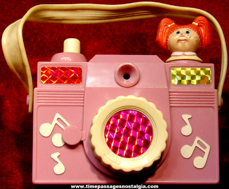 Colorful ©1984 Cabbage Patch Kids Doll Wind Up Musical Toy Camera