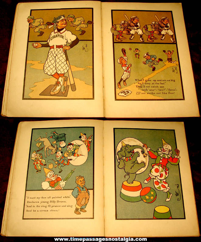 ©1909 When I Grow Up Hard Back Children's Book By W. W. Denslow